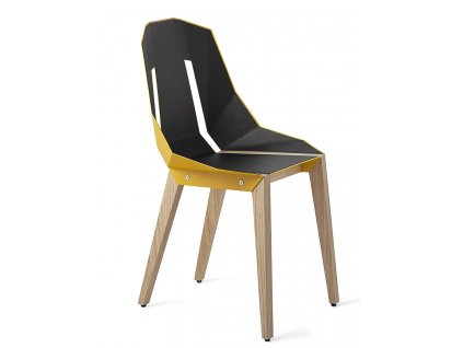 Čalouněná židle Tabanda DIAGO s dubovou podnoží