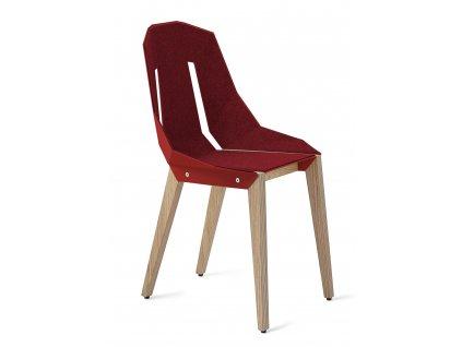 Plstěná židle Tabanda DIAGO s dubovou podnoží