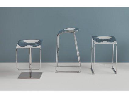 Černá plastová barová židle Arod 500