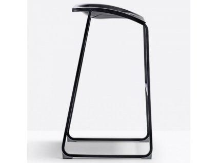 Černá plastová barová židle Arod 510 76 cm