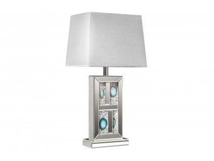 Stříbrná zrcadlová stolní lampa Agate 74 cm