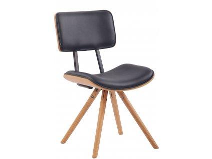 Černá čalouněná jídelní židle Nairobi