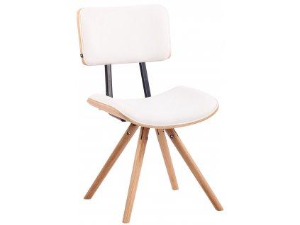 Bílá čalouněná jídelní židle Nairobi