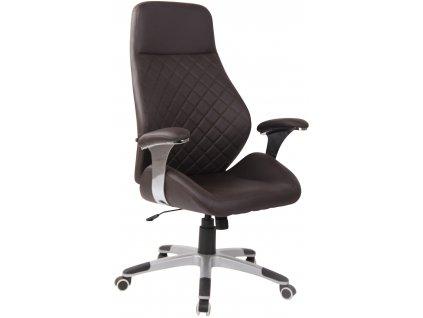 Tmavě hnědá kancelářská židle Bentley