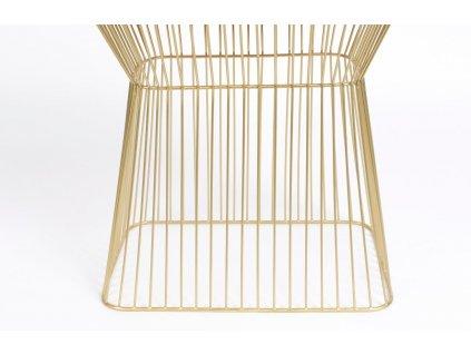 Vínovo zlatý kovový odkládací stolek BOLD MONKEY NO OFFENCE 45 x 29,5 cm