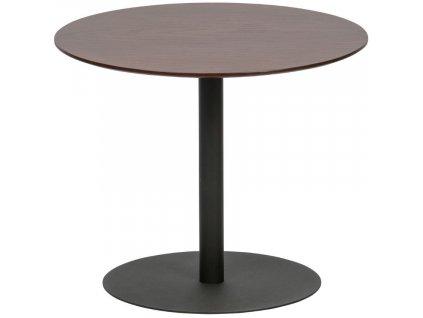 Ořechový kulatý odkládací stolek Poseidon 48 cm