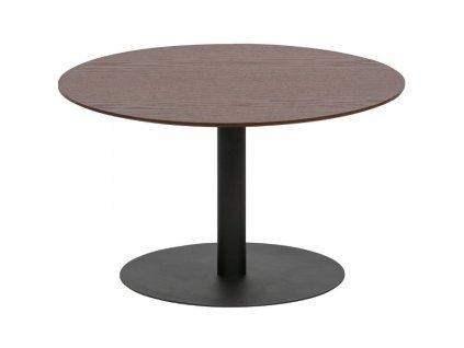 Ořechový kulatý konferenční stolek Poseidon 60 cm