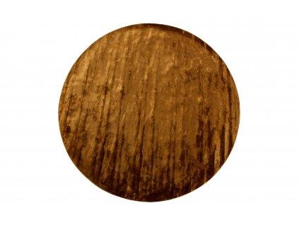 Medově žlutý sametový koberec Lord 250 cm