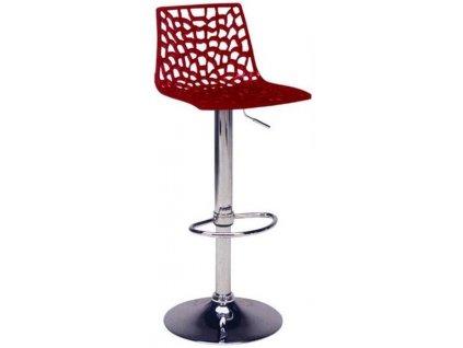 Bordó plastová barová židle Coral