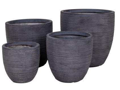 Set čtyř šedých květináčů Kong