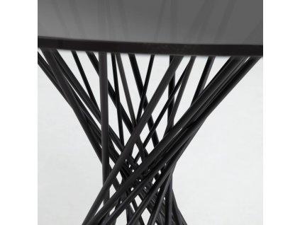 Černý kulatý skleněný jídelní stůl LaForma Niut 120 cm