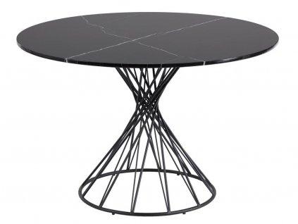 Černý kulatý jídelní stůl
