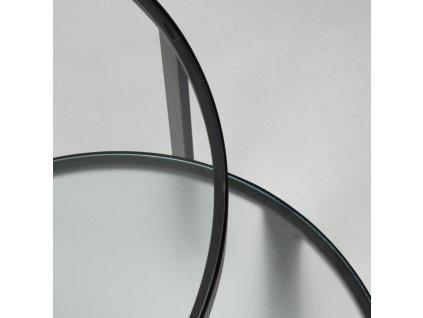 Set dvou skleněných odkládacích stolků