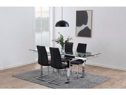 Skleněný jídelní stůl Karlo 200 cm