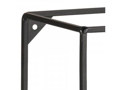 Černý kovový regál Daja 50 cm