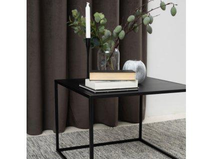 Černý konferenční stolek Renna 60 cm