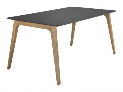 Černý dubový jídelní stůl HOUE Gate 168 x 95 cm