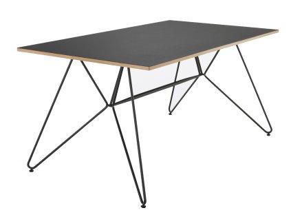 Černý kovový jídelní stůl HOUE Sketch 168 x 95 cm