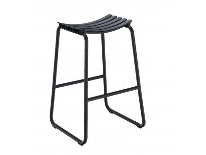 Černá plastová zahradní barová židle HOUE Clips