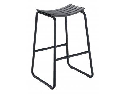 Šedá plastová zahradní barová židle HOUE Clips
