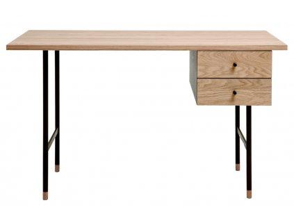 Dubový pracovní stůl Woodman Jugend II. s kovovou podnoží 130 x 65 cm