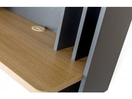 Nástěnný pracovní stůl Woodman Minyard 74x8 cm