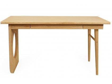Hnědý dubový pracovní stůl Woodman Bau 140x70 cm