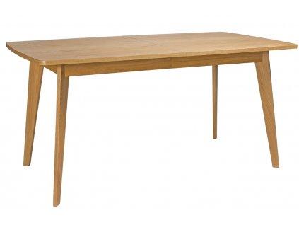 Hnědý dubový rozkládací jídelní stůl Woodman Kensal 200x90 cm