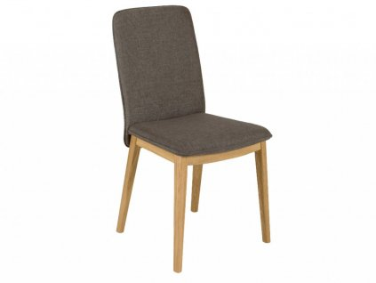 Šedá dubová jídelní židle Woodman Adra