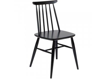 Černá masivní jídelní židle Woodman Aino