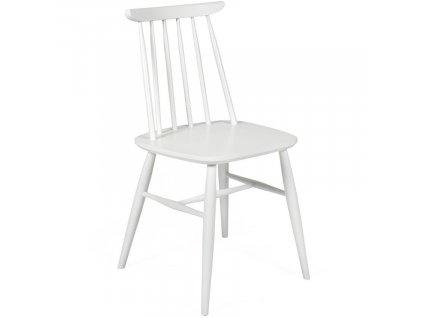 Bílá masivní jídelní židle Woodman Aino