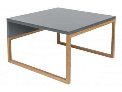 Šedý konferenční stolek Woodman Cubis 60x50 cm