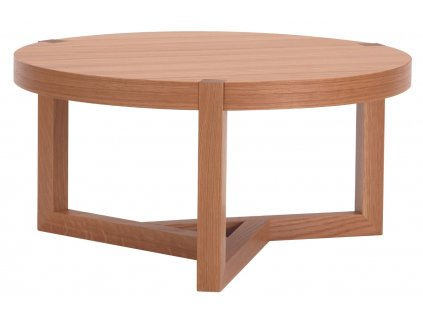 Hnědý dubový kulatý konferenční stolek Woodman Brentwood 82 cm