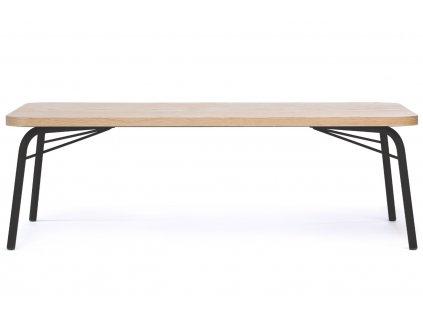Hnědý dubový konferenční stolek Woodman Ashburn I. 125x65 cm