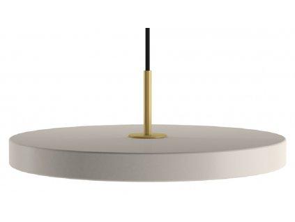 Krémově bílé kovové závěsné světlo Asteria Ø 43 cm