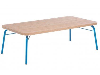 Hnědý dubový konferenční stolek Woodman Ashburn III. 125x65 cm