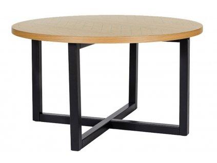 Hnědý březový kulatý konferenční stolek Woodman