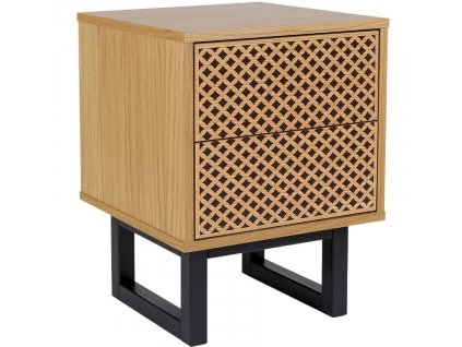 Proutěný masivní noční stolek Woodman Camden