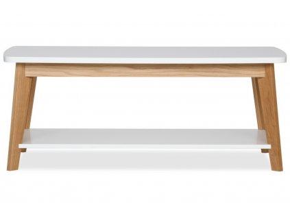 Bílý dubový konferenční stolek