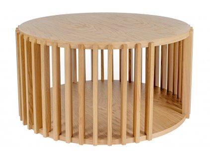 Hnědý dřevěný kulatý konferenční stolek Woodman Drum 83 cm