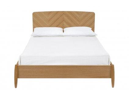 Přírodní dubová postel Woodman Farta Herringbone 140x200 cm