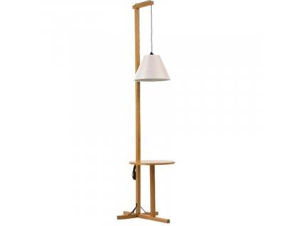 Bílá dubová stojací lampa Woodman