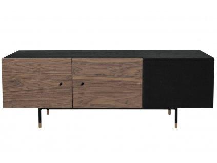 Tmavě hnědý televizní stolek Woodman Jugend