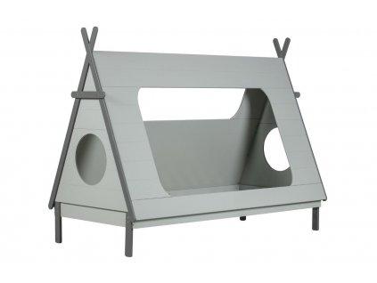 Šedá dřevěná dětská postel Wooliz 90 x 200 cm
