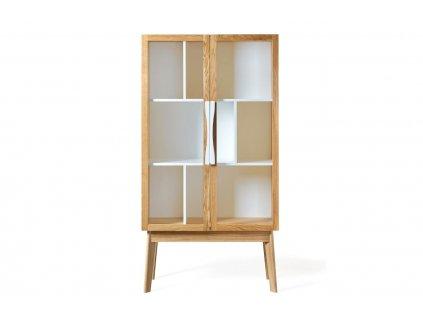 Bílá dubová knihovna Woodman Avon 165 x 88 cm
