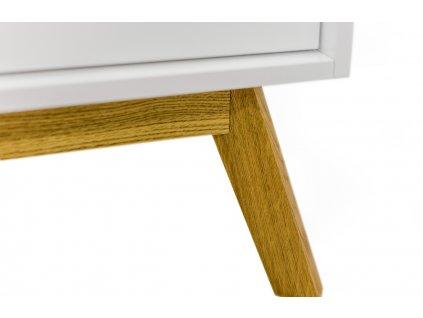 Bílá dubová komoda Woodman Kensal 149 x 40 cm