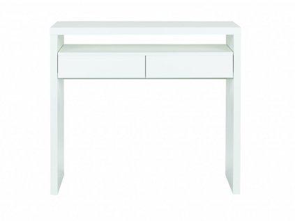 Bílý pracovní stůl Woodman Console III. 100x36 cm