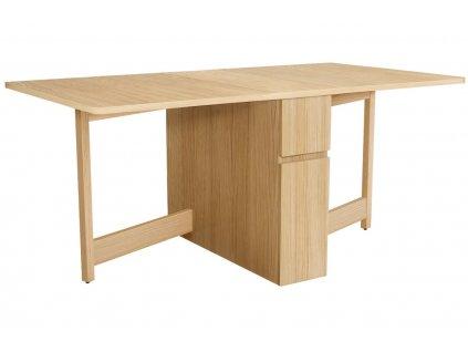 Přírodní rozkládací jídelní stůl Woodman Kungla 170x90 cm