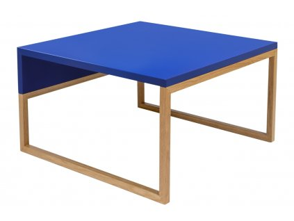 Modrý konferenční stolek Woodman Cubis 60x50 cm