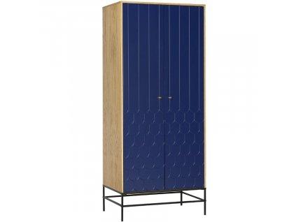 Modrá dubová skříň Woodman Lia 80x55 cm